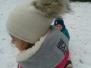 Slůňata na sněhu
