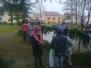 Vánoční zdobení v parku...